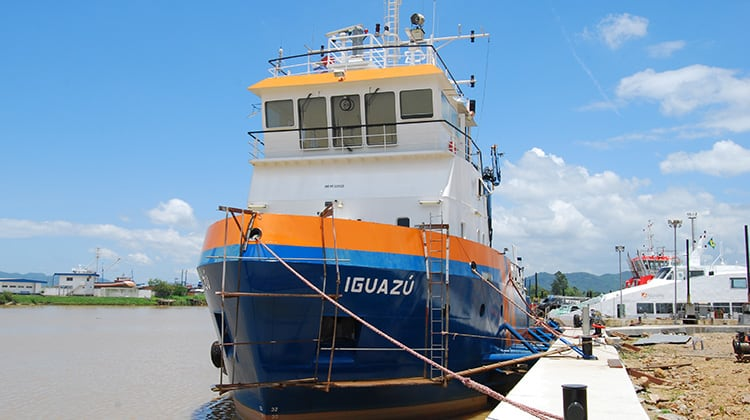 harbour iguazu ship delivery TOS