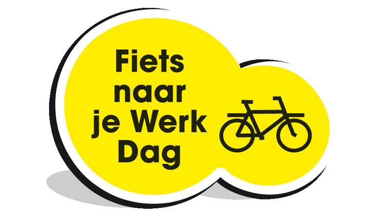 Logo fiets naar je werk dag TOS