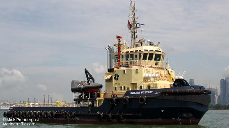 sailing svitzer foxtrot ship delivery TOS