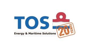 TOS logo 20 years