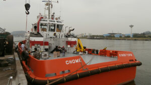 Ship Delivery TOS Chome tug