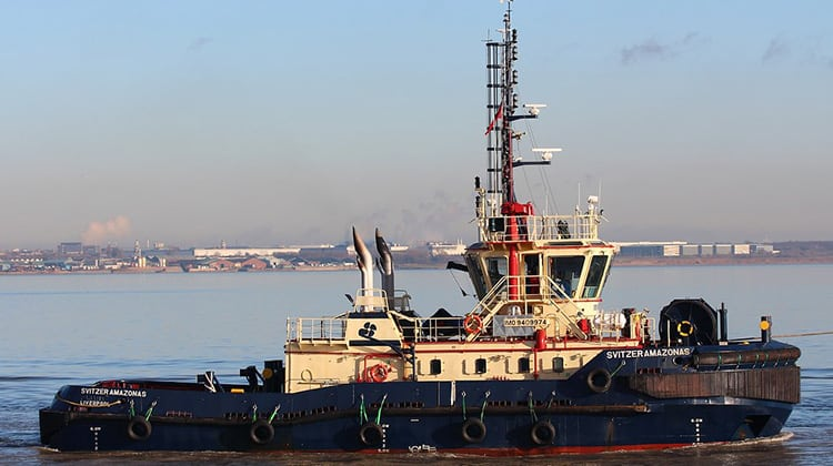 sailing svitzer amazonas ship delivery TOS
