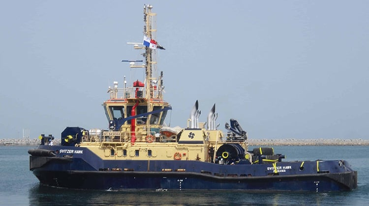Ship Delivery TOS Svitzer Hawk tug