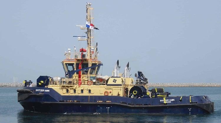 Ship Delivery TOS Svitzer Hawk tug