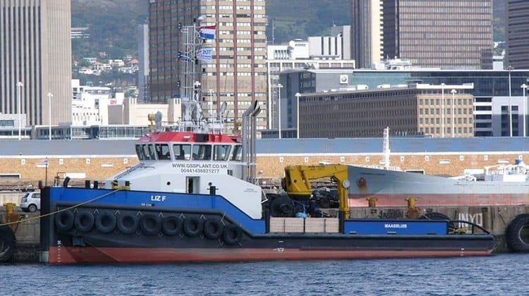 TOS Shipdelivery Liz F moored Cape Town