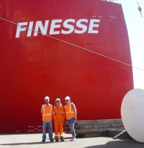 TOS office crew visits HLV Finesse of Fairstar