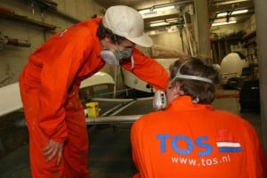 TOS sponsors overalls new students Maritime Institute Willem Barentsz