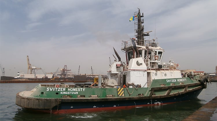 Ship Delivery TOS Svitzer Honesty tug