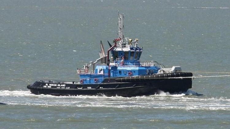 voyaging heron island ship delivery TOS