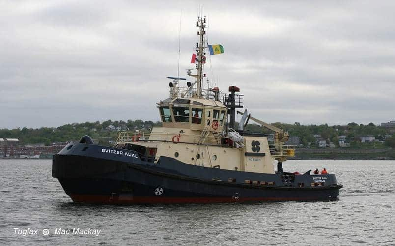 Ship Delivery Svitzer Njal TOS