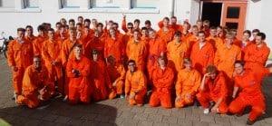 TOS sponsors freshmen's overalls – De Ruyter Academy in Vlissingen