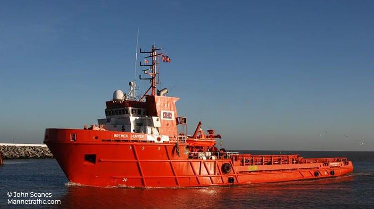 sailing bremen hunter ship delivery TOS