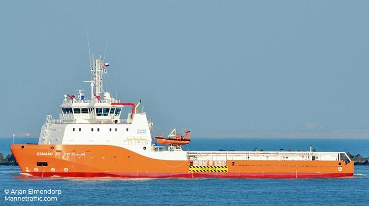 sailing esnaad 223 ship delivery TOS