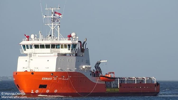 voyaging esnaad 222 ship delivery TOS
