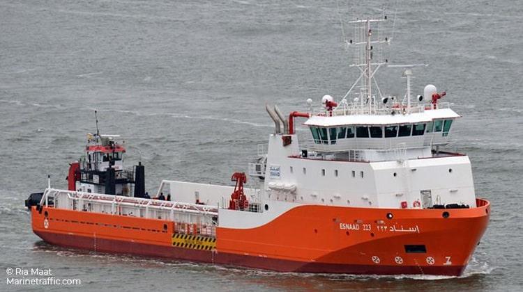 voyaging esnaad 223 ship delivery TOS
