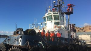 Ship Delivery TOS Albireo tug