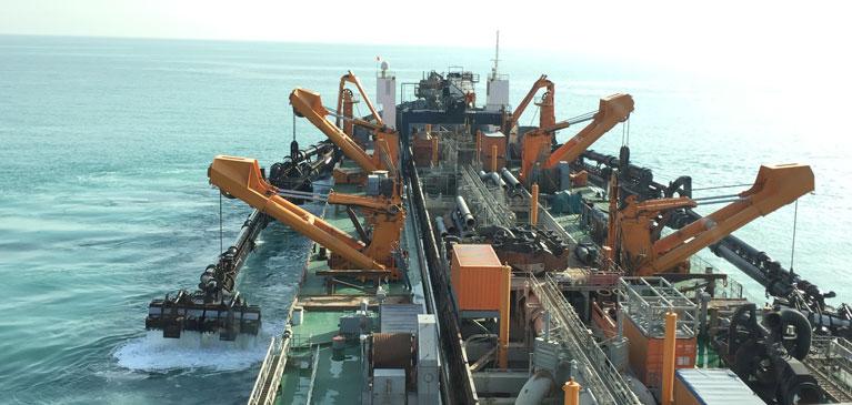 Dredging vessel Myron TOS