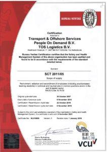 Certificate SCT People On Demand BV and TOS Logistics BV