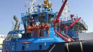 Captain Frans delivers ASD tug to Sydney TOS