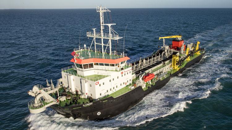 ship delivery dredger TOS